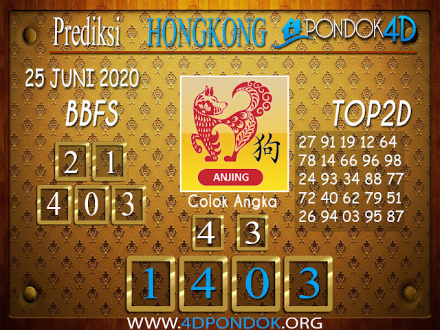 Prediksi Togel HONGKONG PONDOK4D 18 JULI 2020