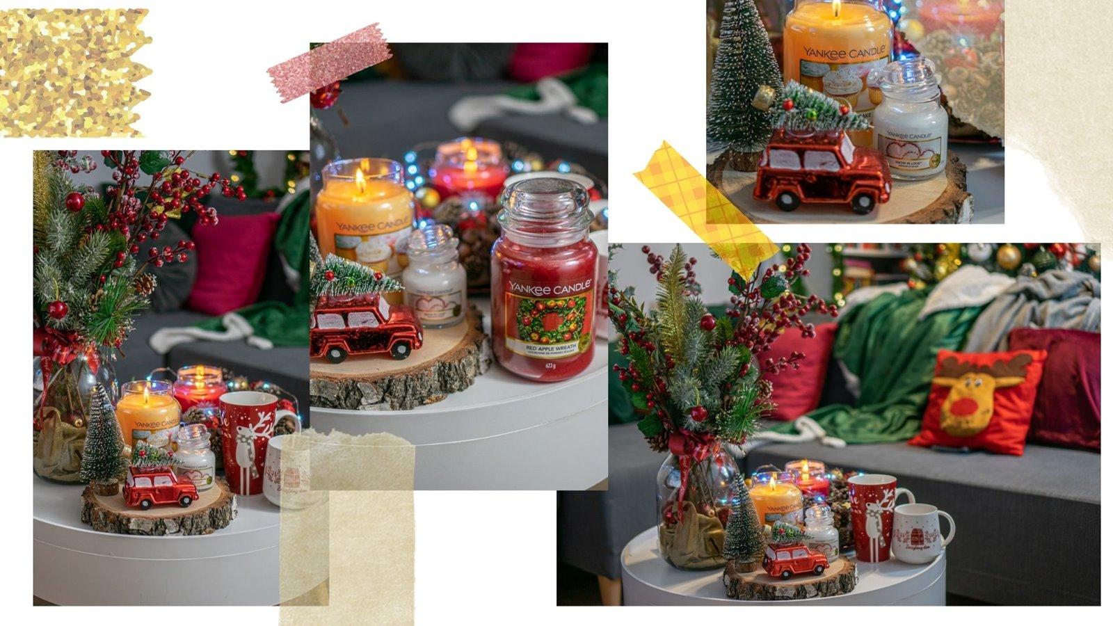 3 małe detale dodatki na świąteczny stół jak udekorować pokój salon mieszkanie jak ubrać choinkę nietypowe bombki świąteczne poduszki z motywem bożonarodzeniowym zielono-złote zaslony