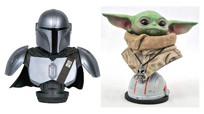 The Mandalorian Legends in 3D ½ Scale Star Wars Resin Busts by Diamond Select Toys x Gentle Giant