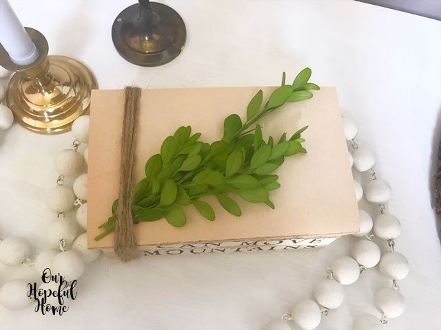 fresh boxwood clippings book bundle embellishment decoration
