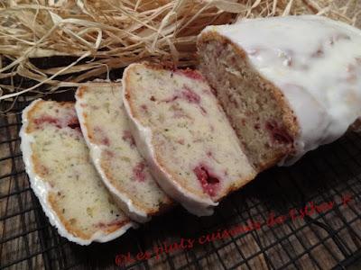 Pain citron, zucchini et framboises (cake)