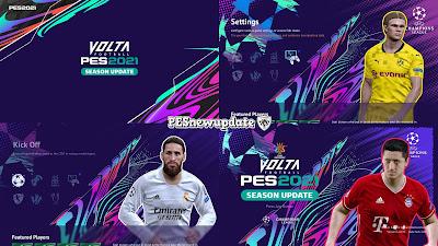 PES 2021 Menu Mod UCL x Volta by PESNewupdate