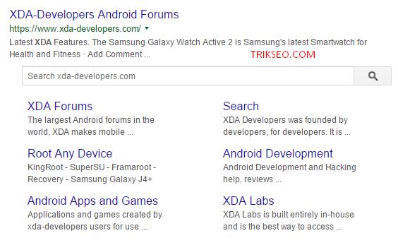 Sitelinks searchbox Xda Developers