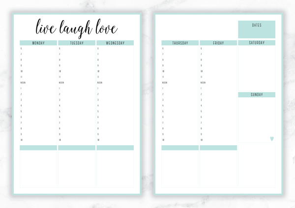 free printable irma weekly planners eliza ellis. Black Bedroom Furniture Sets. Home Design Ideas