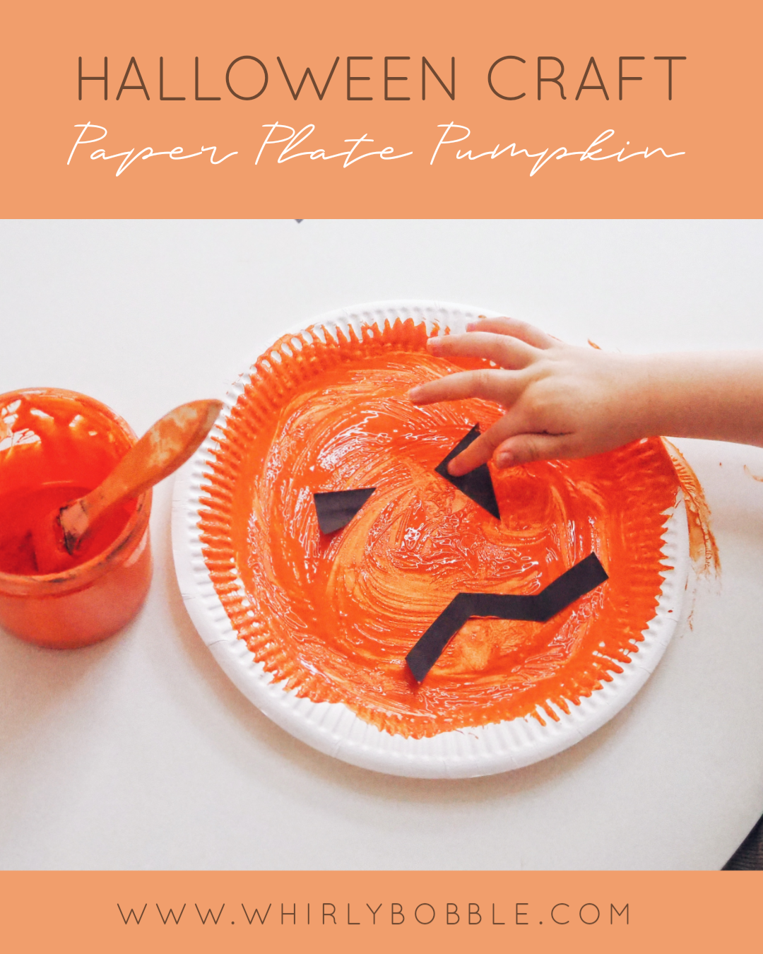 Toddler Halloween Craft: Paper Plate pumpkin