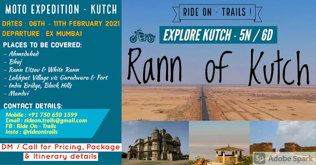 RideOn Trails Moto Expedition Of  Kutch | 6th - 11th February 2021 | Registration On