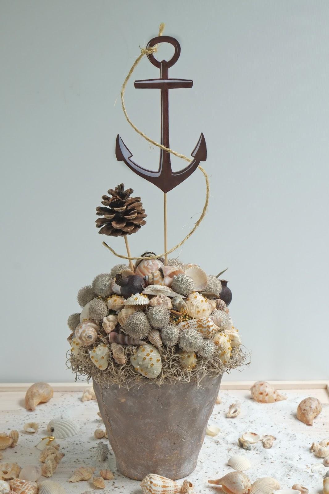 Mooie decoratie met schelpen