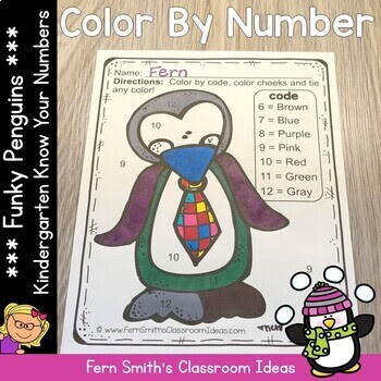 Winter Color By Number Kindergarten Know Your Numbers