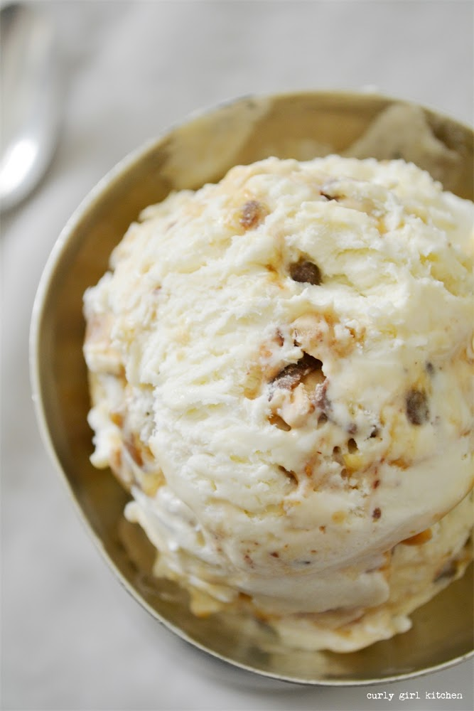 Salted Caramel Toffee Ice Cream, No-churn Ice Cream Recipe, No-churn Salted Caramel Ice Cream