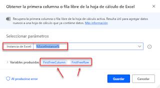 Power Automate Añadiendo datos en Excel
