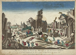 Before photography was possible, copper plate engravings served to record major events, including the 1783 earthquakes