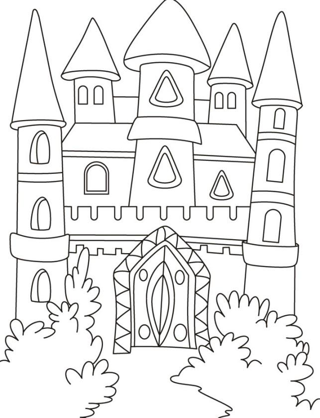 Gambar Mewarnai Istana Terbaru Gambarcoloring