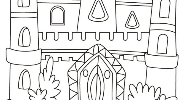Gambar Mewarnai Istana Frozen Colours A