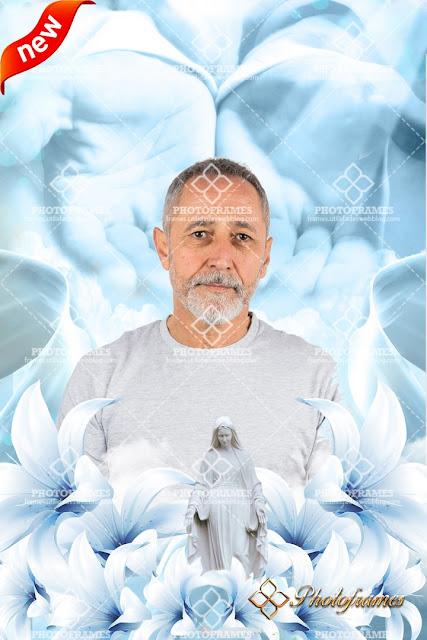 """Fondo con """"las manos de Dios""""dando la bienvenida al paraíso"""