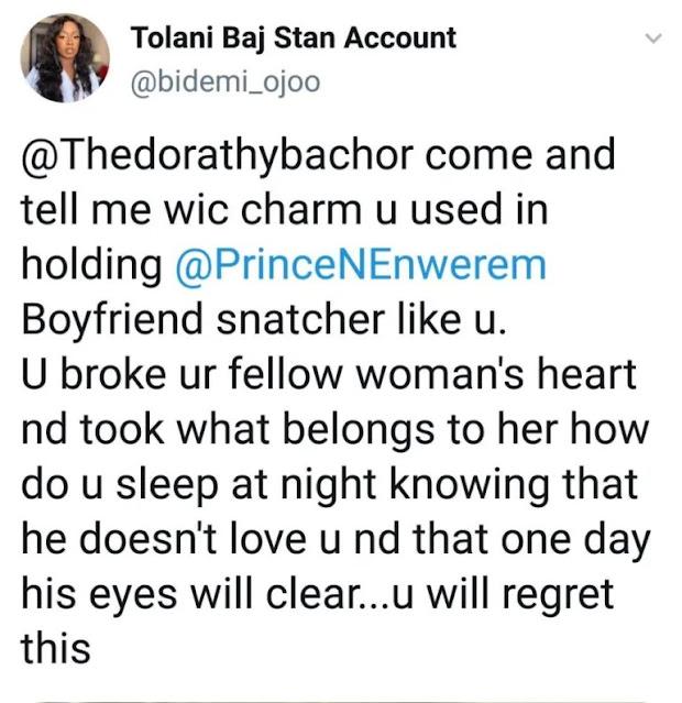 'Boyfriend Snatcher, How Do You Sleep At Night?' - Lady Calls Out BB Naija Star, Dorathy