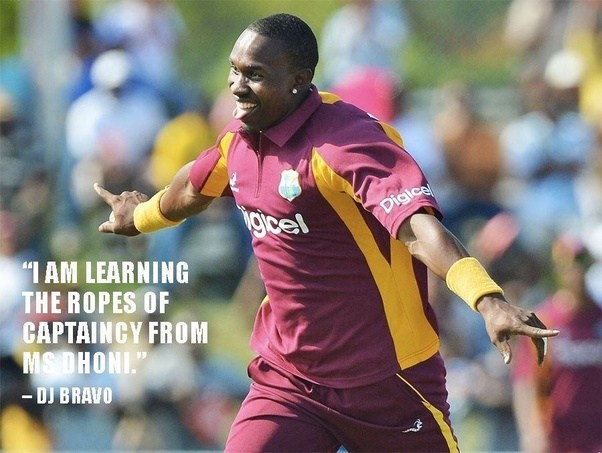 """I am learning the ropes of captaincy from MS Dhoni"" - Dwayne Bravo"