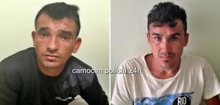 Polícia Militar prende dupla acusada de arrombamento e furto em Passagem dos Vaz - Chaval/CE
