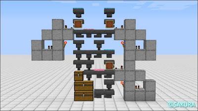 アイテム自動仕分け機 3段式側面図