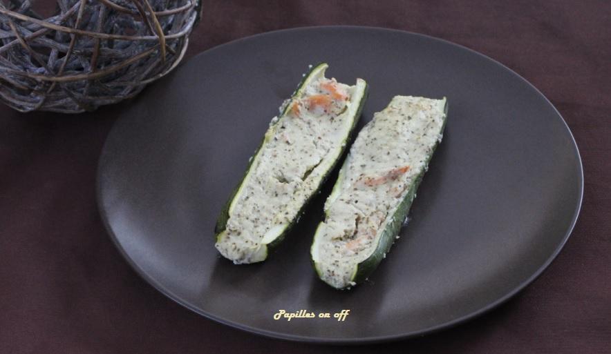 Courgettes farcies au ch vre frais et saumon fum au thermomix ou sans papilles on off - Courgette farcie thermomix ...