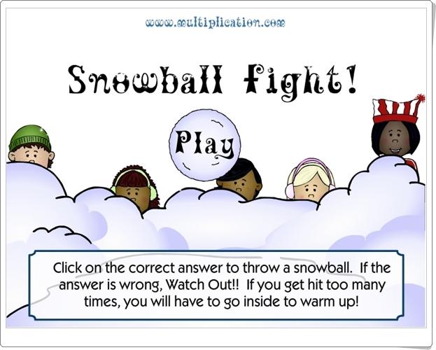 ¡Guerra de nieve! (Juego de Multiplicación de Primaria)