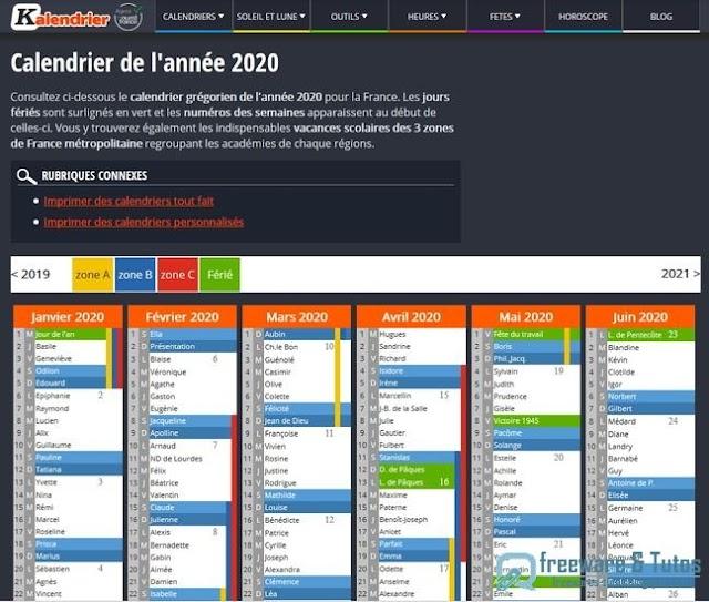 Kalendrier : créez votre calendrier personnalisé en ligne
