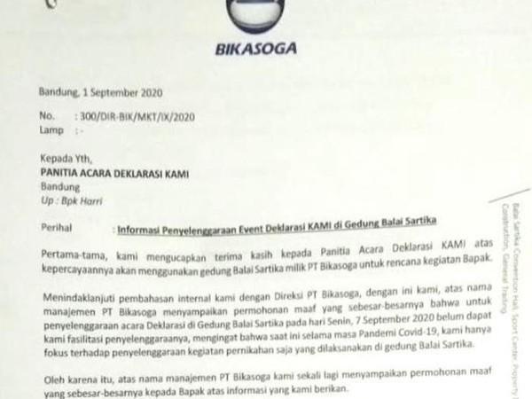 Deklarasi KAMI di Bandung Terpaksa Ditunda Sebab Pihak Pengelola Gedung Tak Jadi Beri Izin