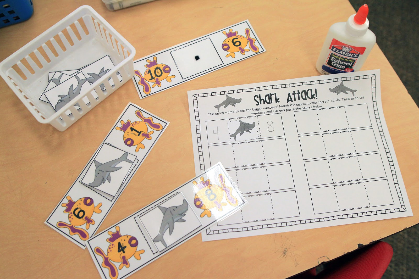 Mrs Ricca S Kindergarten Down By The Sea Centers Freebie