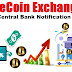 OneCoin Exchange Central Bank Notification