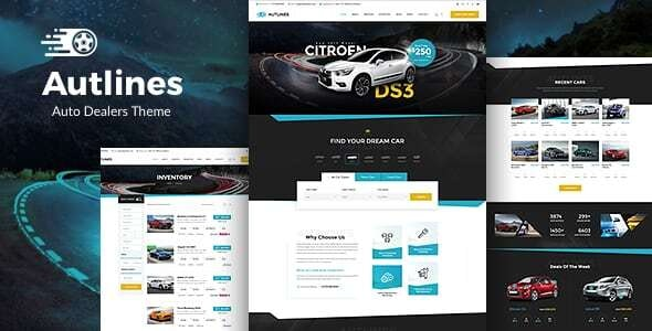 Beautiful Auto Dealer & Booking Responsive WordPress Theme