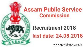APSC Recruitment 2018,govjobinassam