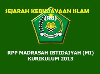 RPP SKI Kelas 1 MI Kurikulum 2013 (Madrasah Ibtidaiyah) Revisi