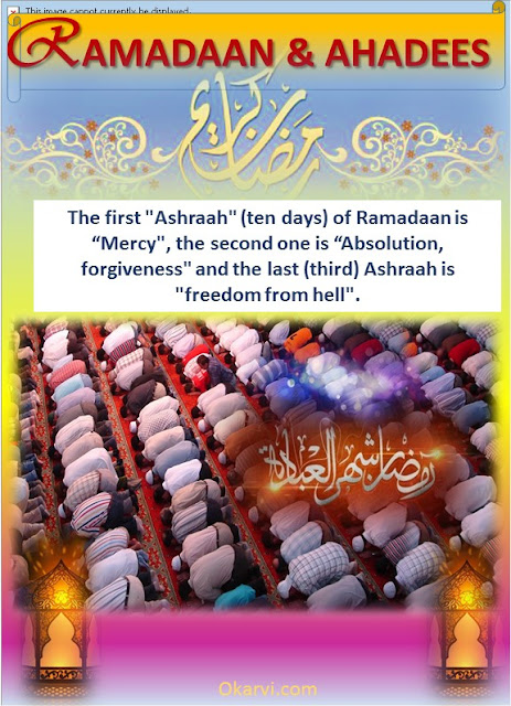 Ramadaan & Ahadees-The First Ashraah-