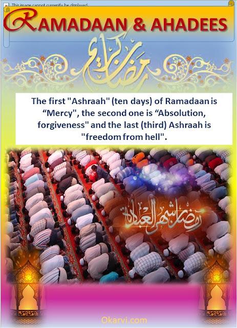 Ramadaan & Ahadees-The First Ashraah-