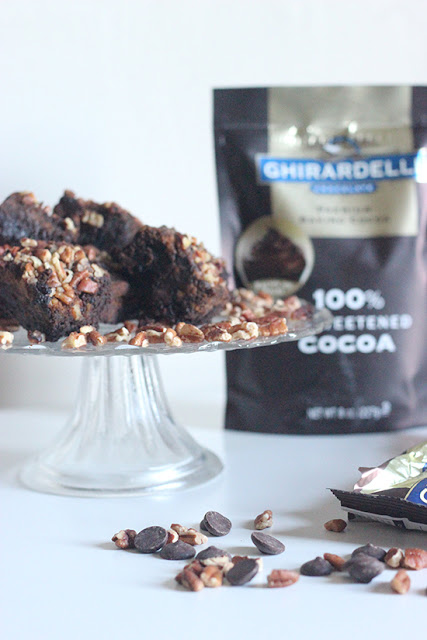 Ghirardelli Chocolate Pumpkin Pecan Brownie Recipe