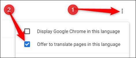 """إذا كنت تريد ترجمة الصفحات إلى هذه اللغة أيضًا ، من القائمة ، حدد المربع بجوار """"عرض لترجمة الصفحات بهذه اللغة""""."""