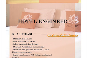 Lowongan Kerja Bandung Hotel Engineer Hotel Alqueby