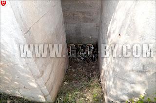 Внутри первого немецкого бункера в Ганцевичах