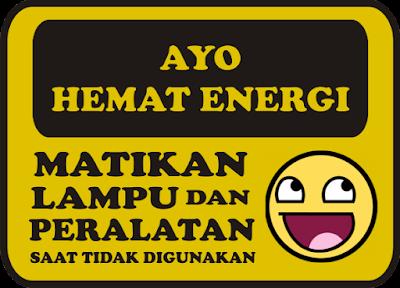 Poster Ajakan Hemat Energi Listrik