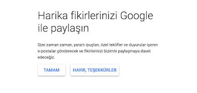 Harika fikirleirnizi Google ile paylaşın