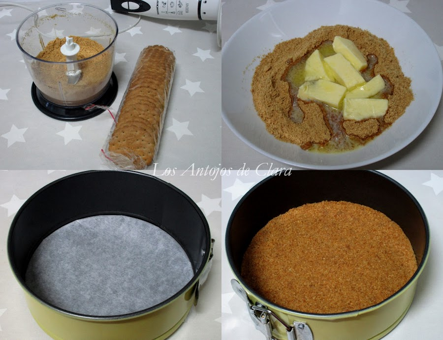 Base de galletas de la cheesecake