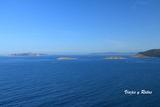 Vistas de las Islas Cíes desde Bayona, Pontevedra