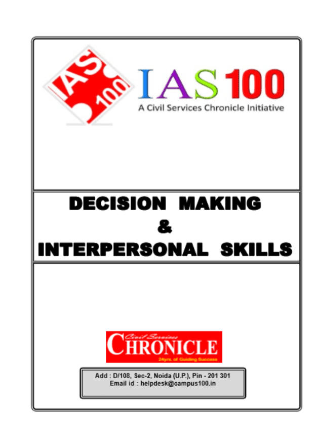 Decision-Making-and-Interpersonal-Skills-Chronicle-IAS-Academy-For-All-Competitive-Exam-PDF-Book