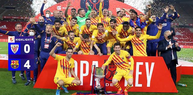 Barcelona are the Copa del Rey champions