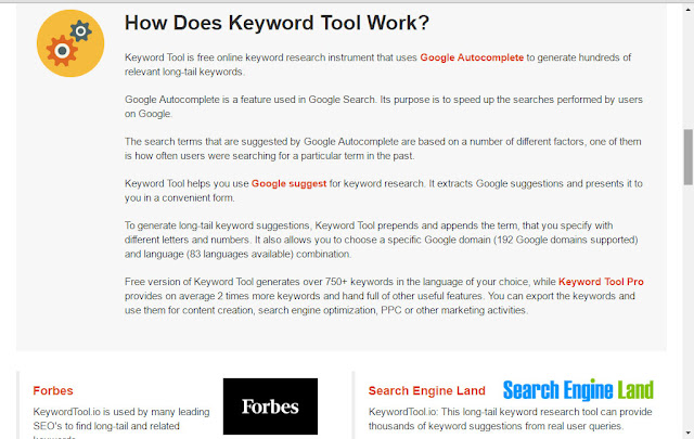 how does keyword tool io work?