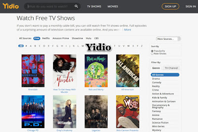 Yidio (watch tv shows online for free)