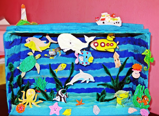 "Diorama Kotak Kasut ""Under The Sea"""