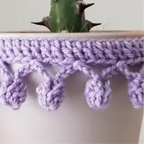 Puntilla Pompom a Crochet