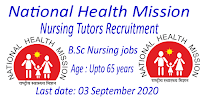 B.Sc Nursing jobs Age upto 65 years