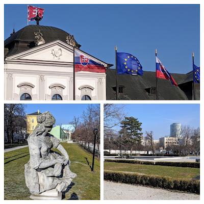 The Presidential Garden in Bratislava in Winter