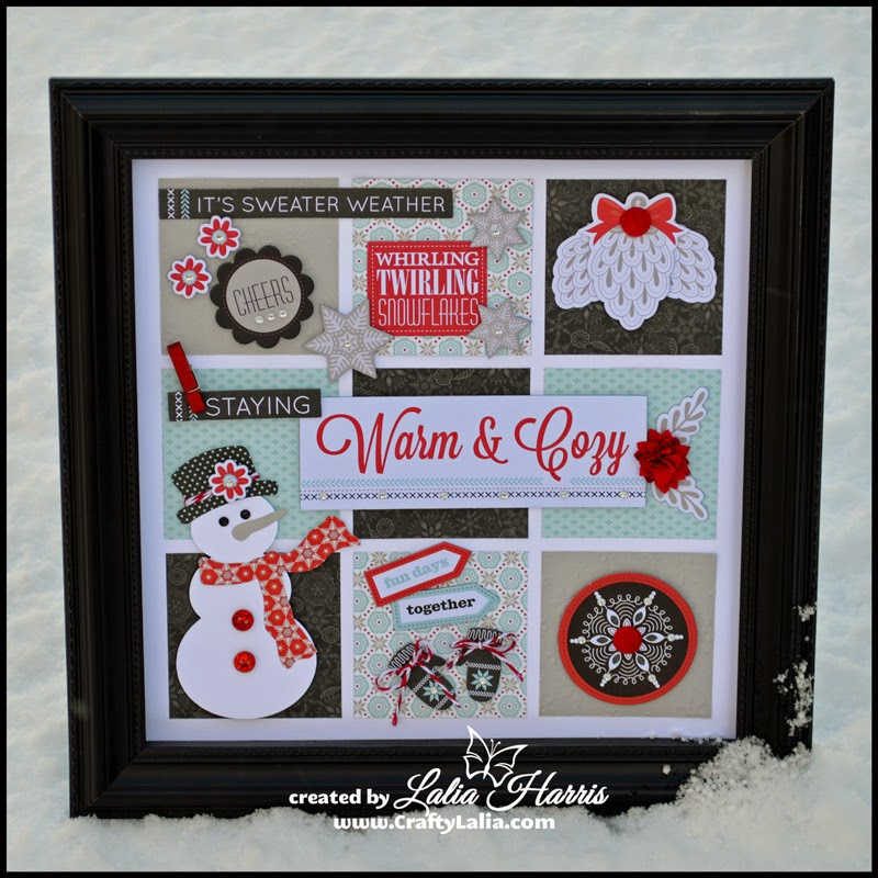 Snowhaven Seasonal Sampler by Lalia Harris  All products from CTMH  Snowman from the CTMH Artbooking Cricut Cartridge